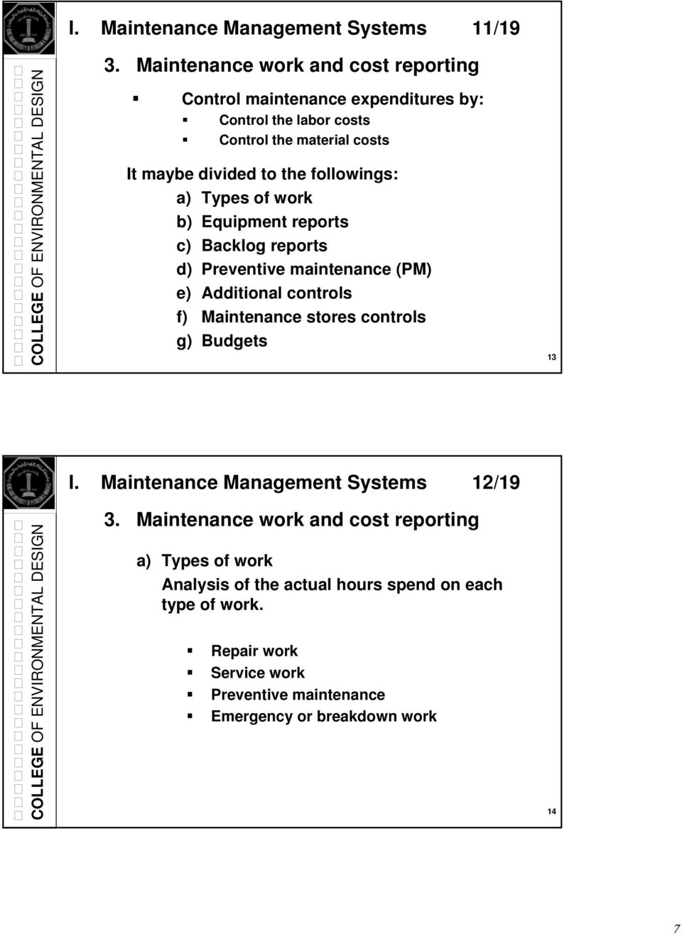 COMPUTERIZED MAINTENANCE MANAGEMENT SYSTEMS  Dr  Abdul