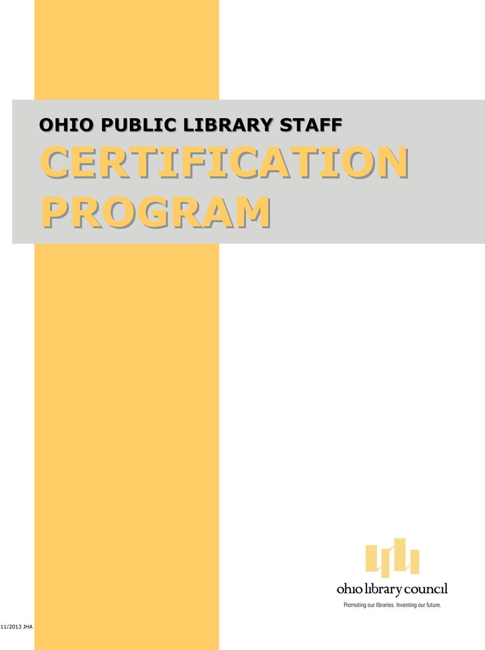 Ohio Public Library Staff Certification Program Pdf