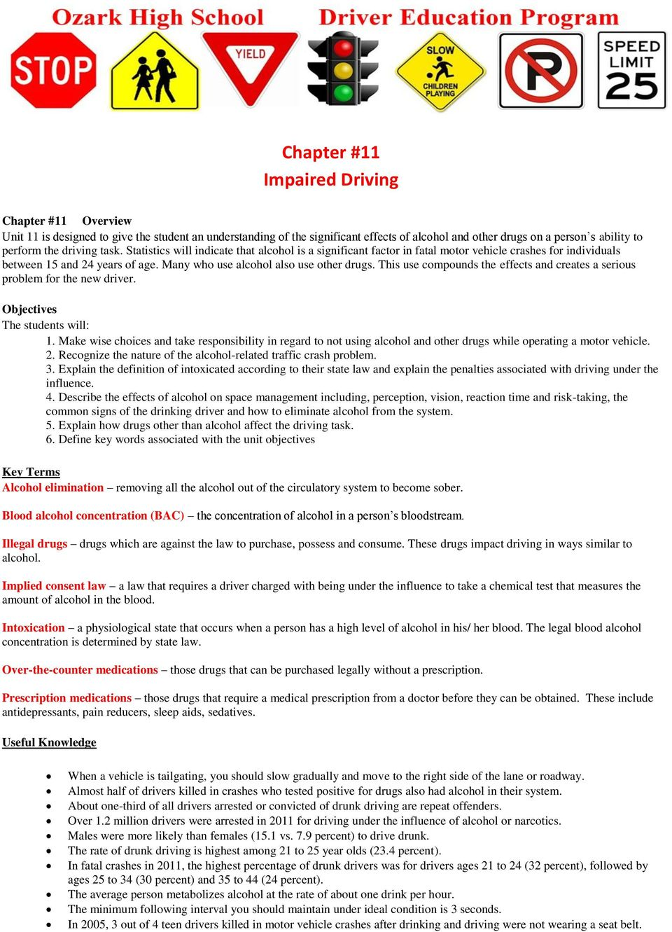 drivers ed 02.02 assignment answer key