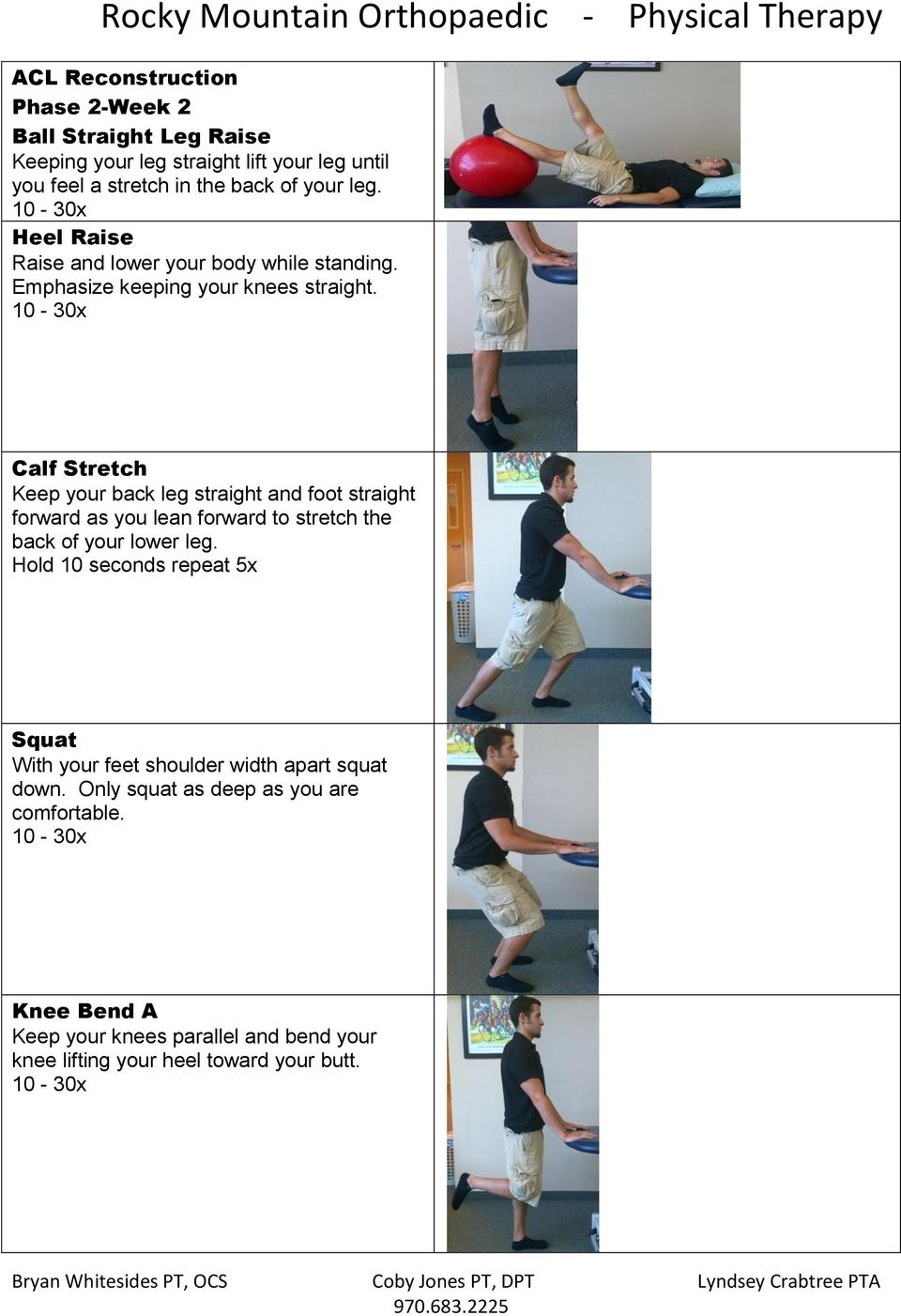Calf Stretch Keep your back leg straight and foot straight forward as you lean forward to stretch the back of your lower leg.