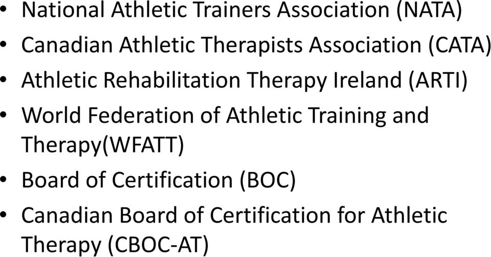 Development Of Recognition Standards And Guidelines For Athletic