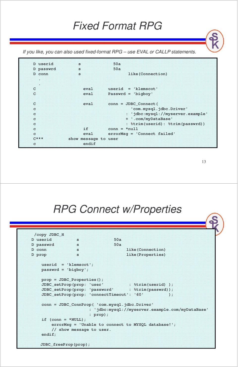 Accesssing External Databases From ILE RPG (with help from Java) - PDF