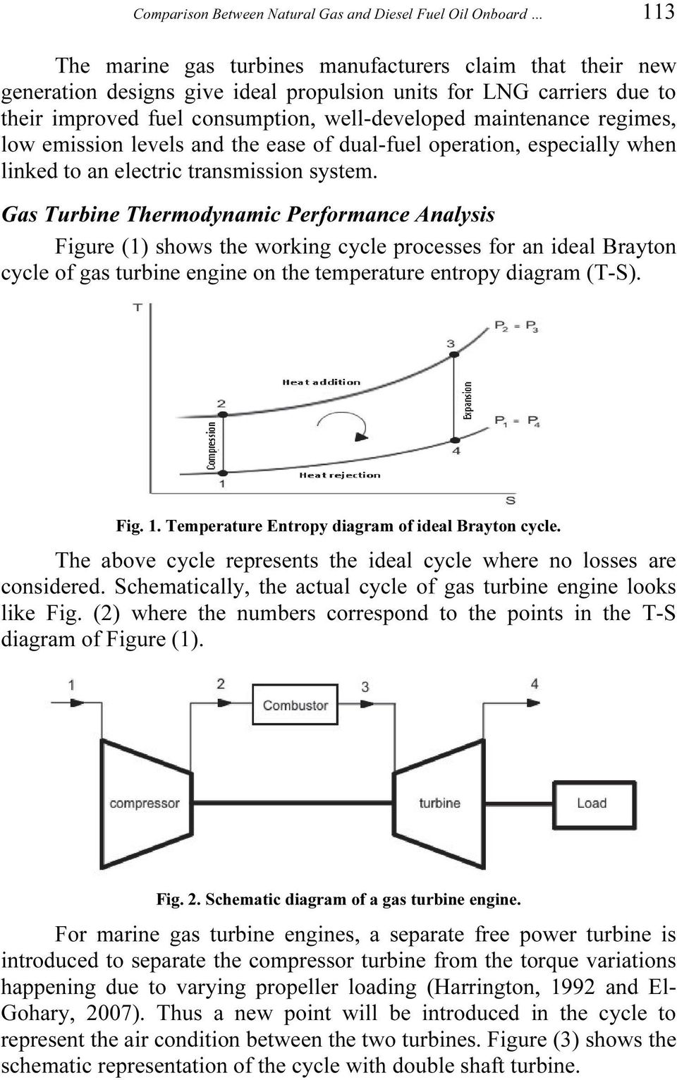 Comparison Between Natural Gas And Diesel Fuel Oil Onboard 2 Stroke Engine Pv Diagram Turbine Thermodynamic Performance Analysis Figure 1 Shows The Working Cycle Processes For An