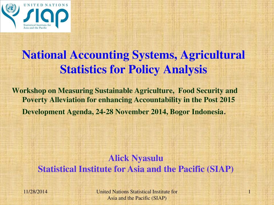 Alleviation for enhancing Accountability in the Post 2015 Development