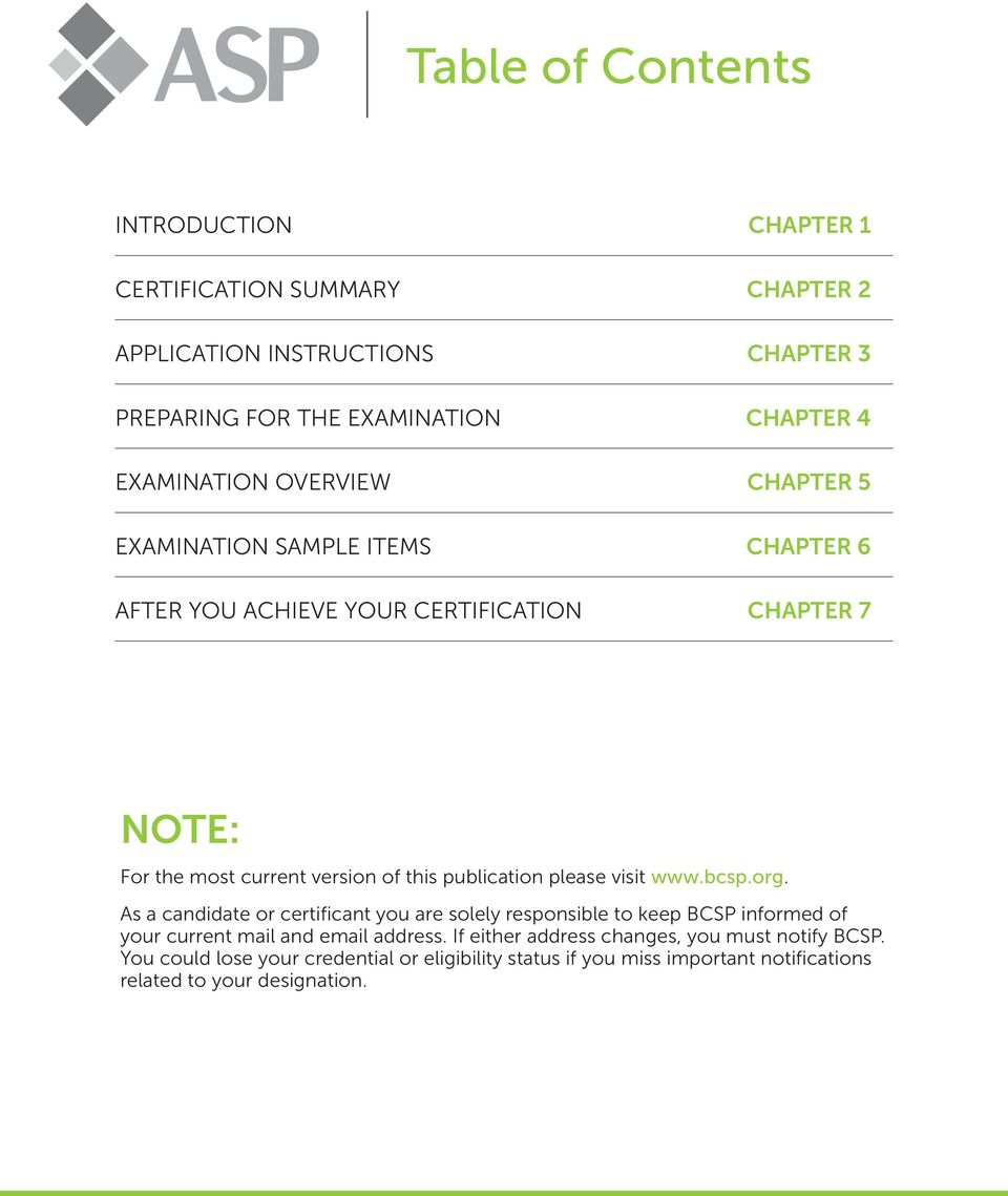 Complete Guide to the ASP - PDF