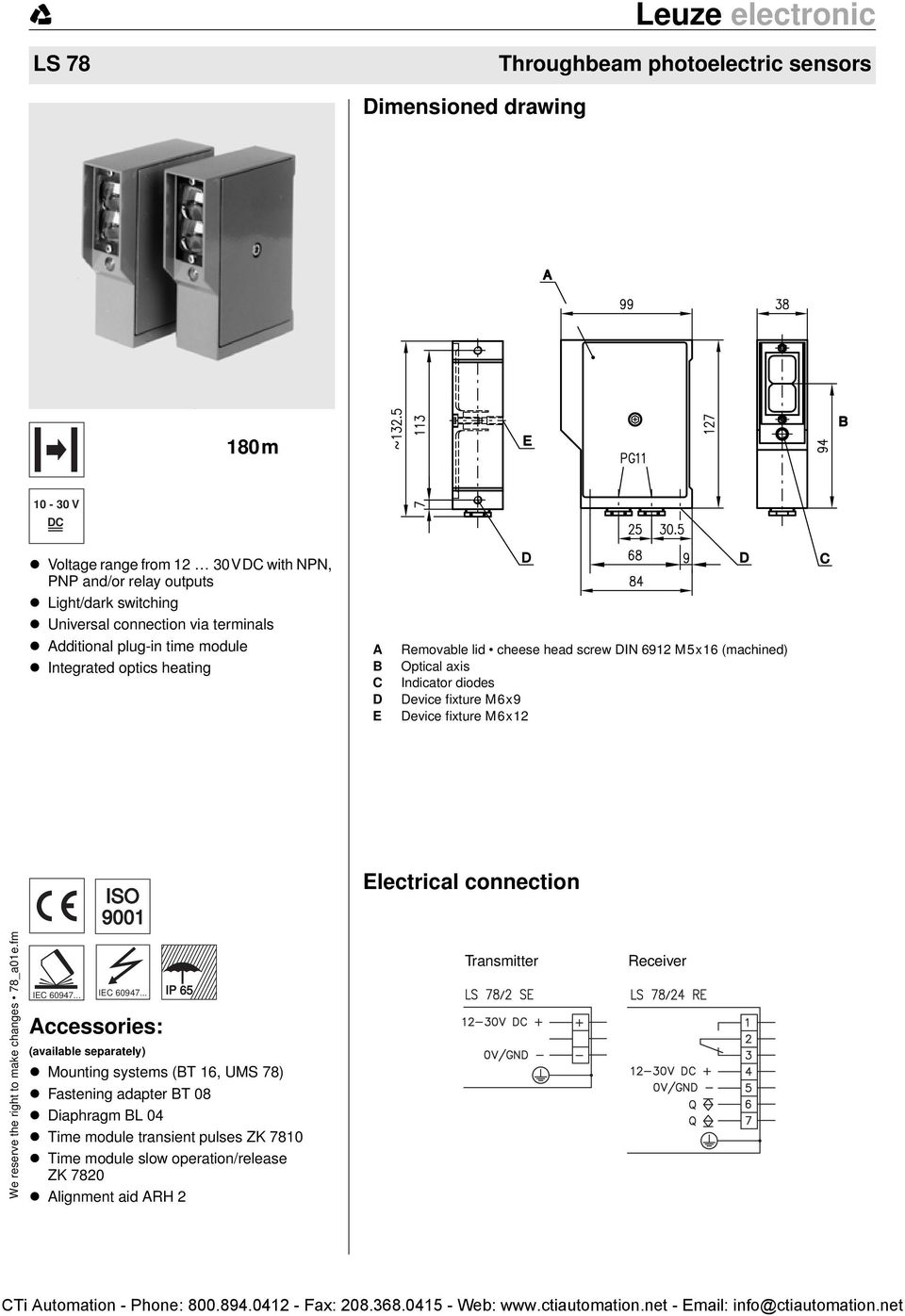 Throughbeam Photoelectric Sensors Dimensioned Drawing Electrical Photocell Circuit Diagram In Addition 12 Volt Wiring Integrated Optics Heating A B C D E Removable Lid Cheese Head Screw Din 6912 M5x16 Machined Optical