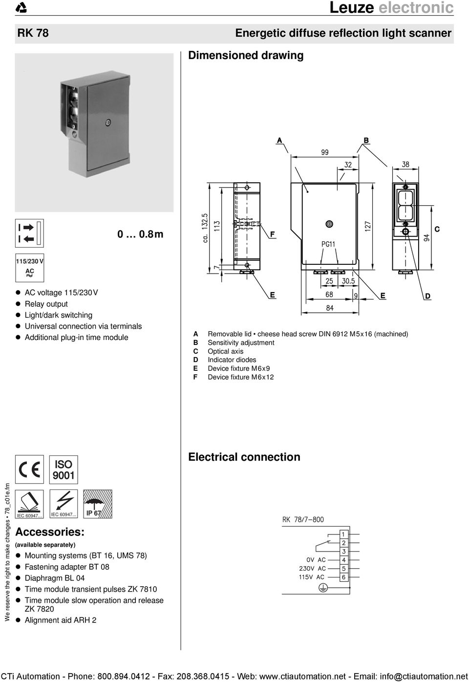 Throughbeam Photoelectric Sensors Dimensioned Drawing Electrical Pulse Counter Further Relay Circuit On Wiring Diagram 9001 Connection We Reserve The Right To Make Changes 78 C01efm Iec 60947