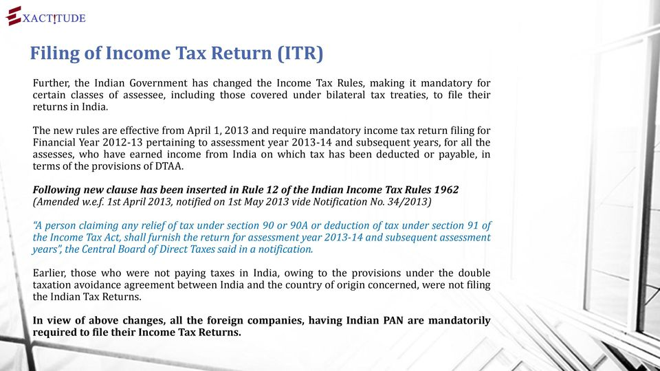 Income Tax Return Itr And Filing Of Form 3ceb For Foreign