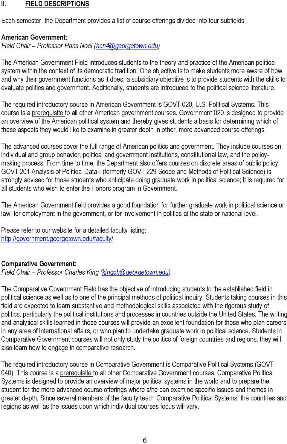 Department of Government  Georgetown University - PDF