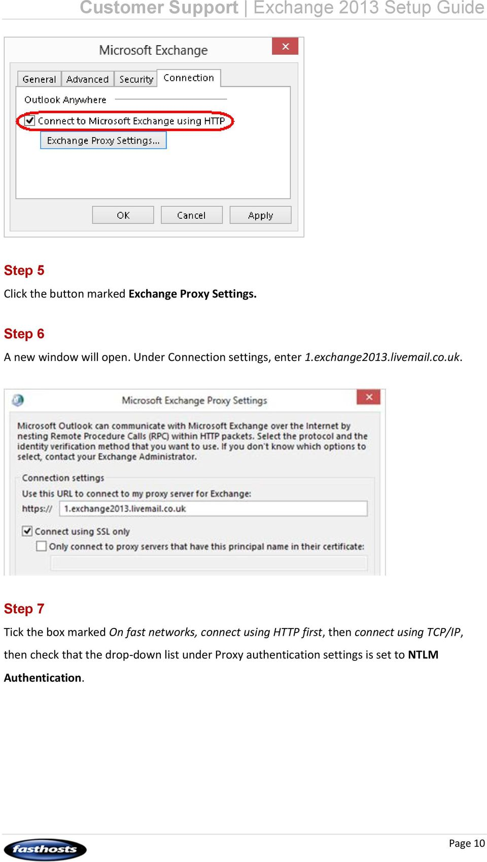 Step 7 Tick the box marked On fast networks, connect using HTTP first, then connect using
