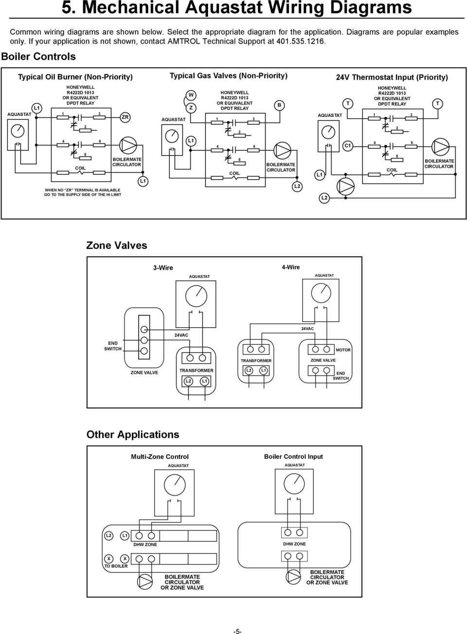 Boilermate Indirect Fired Water Heaters Pdf 24v Thermostat Wiring Diagram Boiler Controls Typical Oil Burner Non Priority Honeywell R4222d 1013 Or Equivalent Dpdt