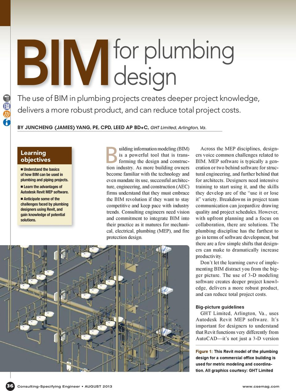 The use of BIM in plumbing projects creates deeper project