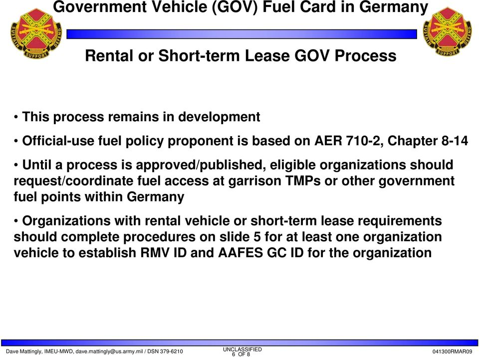 Government Vehicles Fuel Card in Germany - PDF