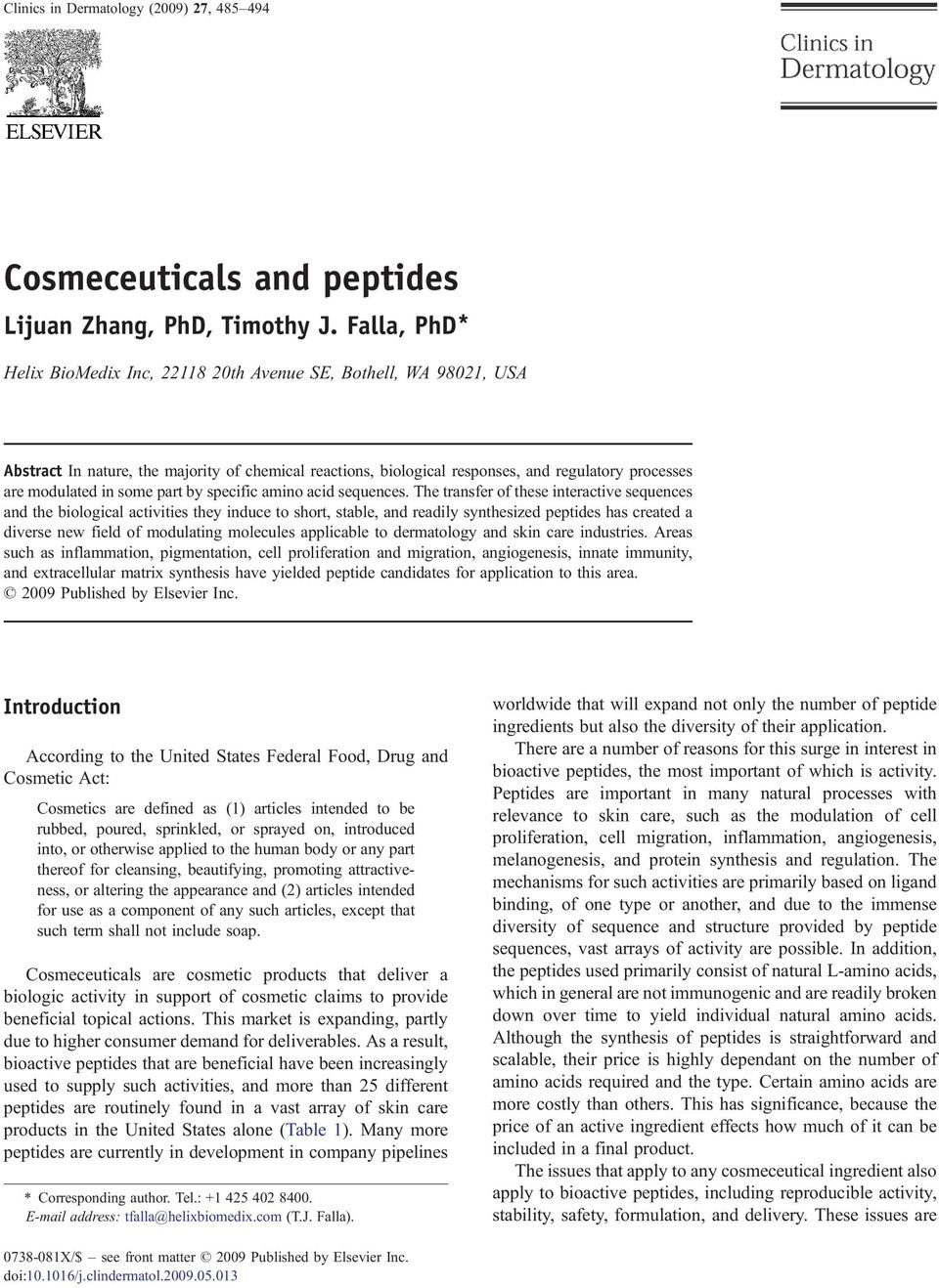 Cosmeceuticals and peptides - PDF