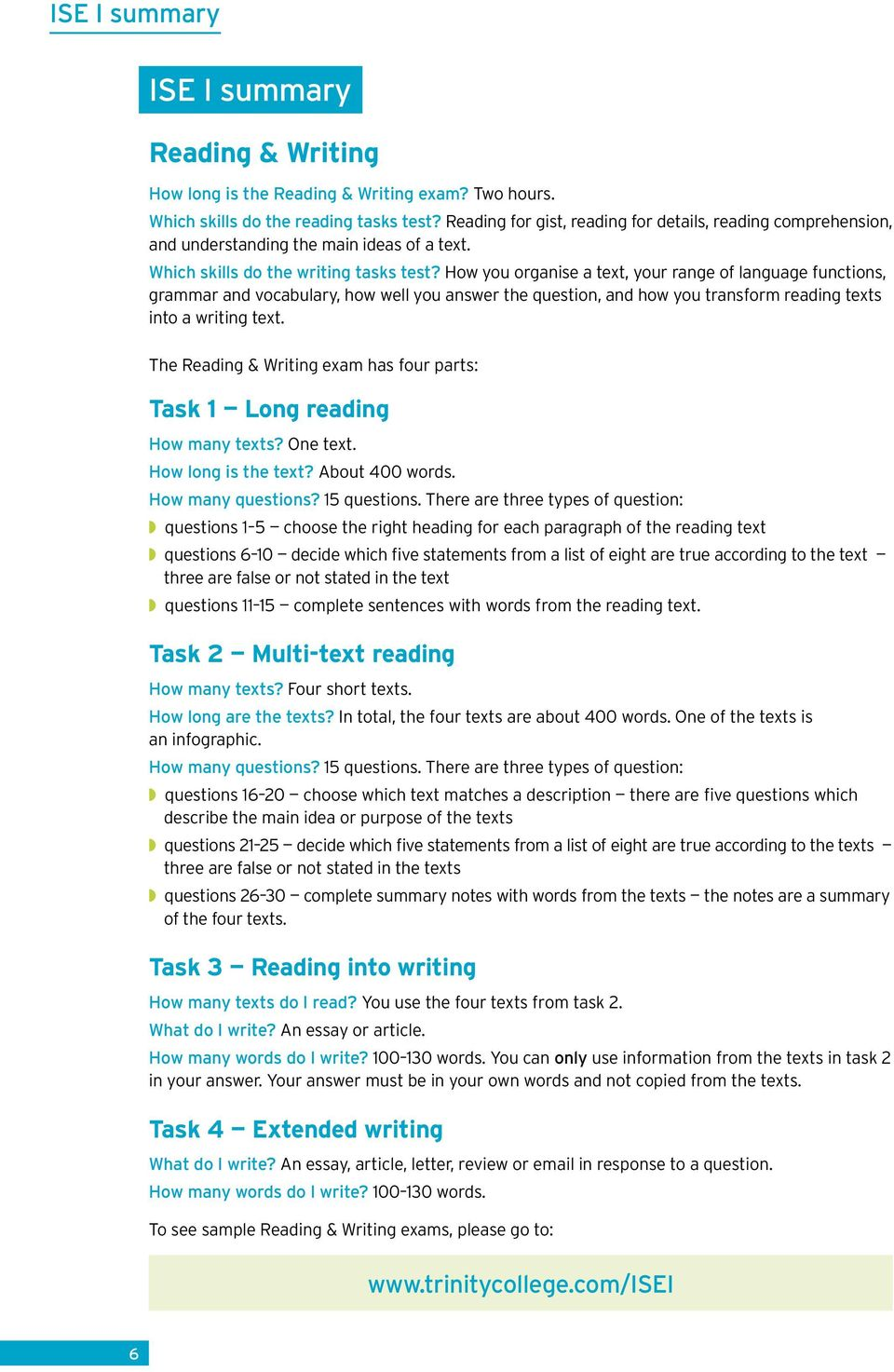 How you organise a text, your range of language functions, grammar and vocabulary, how well you answer the question, and how you transform reading texts into a writing text.