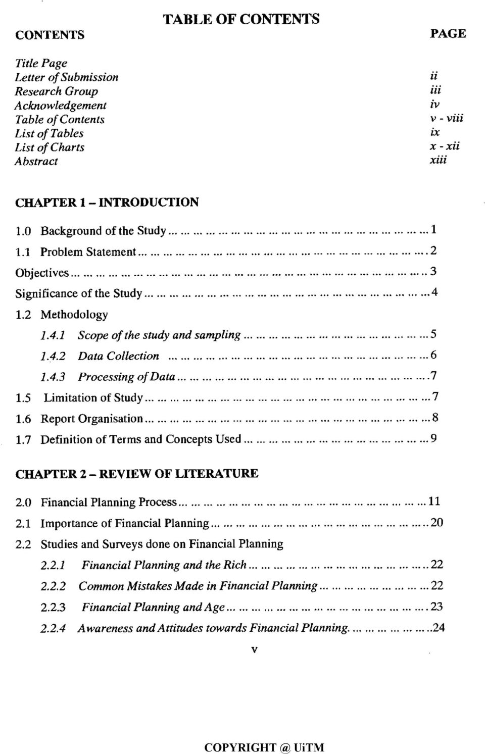 a study of personal financial planning practised by accountants in
