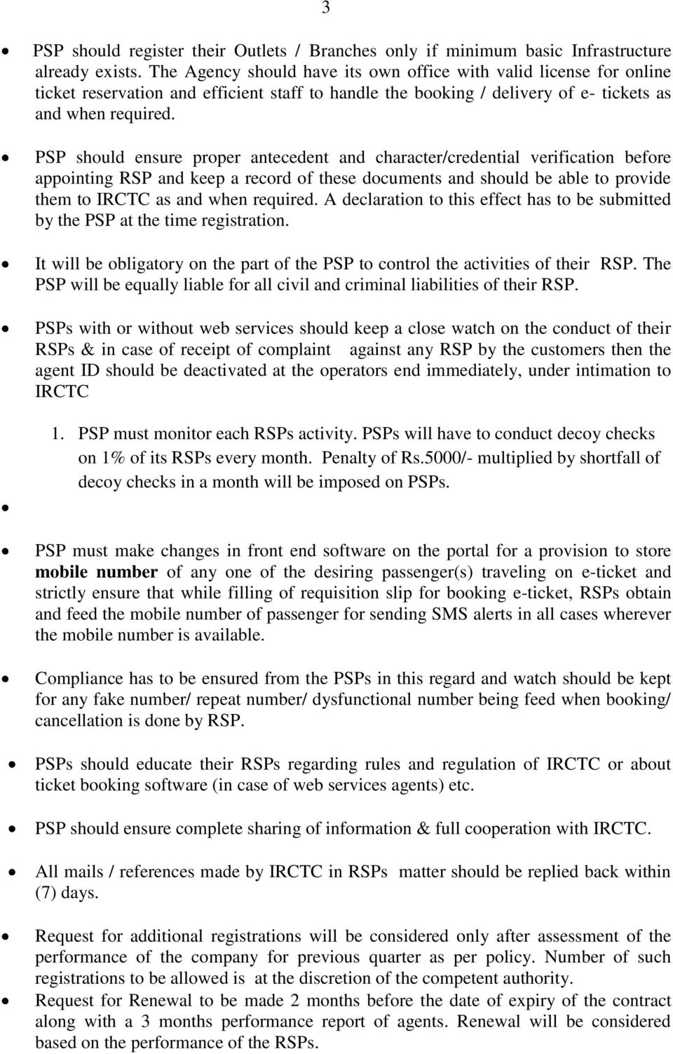 RULES AND REGULATIONS  Do s for the Service providers - PDF