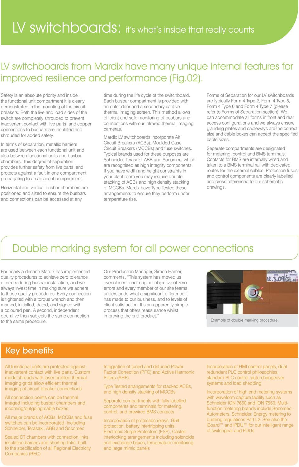 LV switchgear  Industry leading technology from Mardix  The
