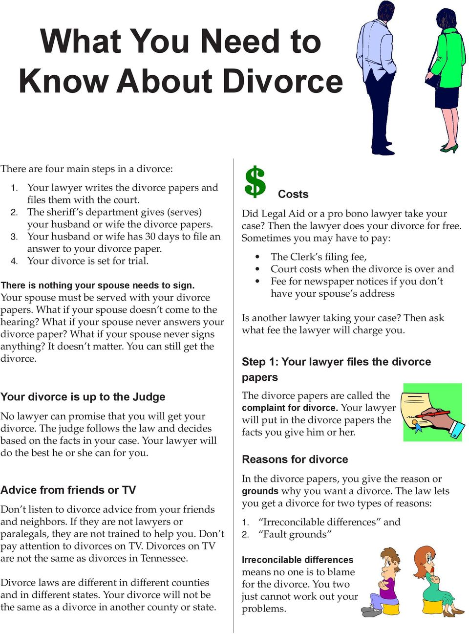 How To Get A Divorce >> What You Need To Know About Divorce Pdf Free Download