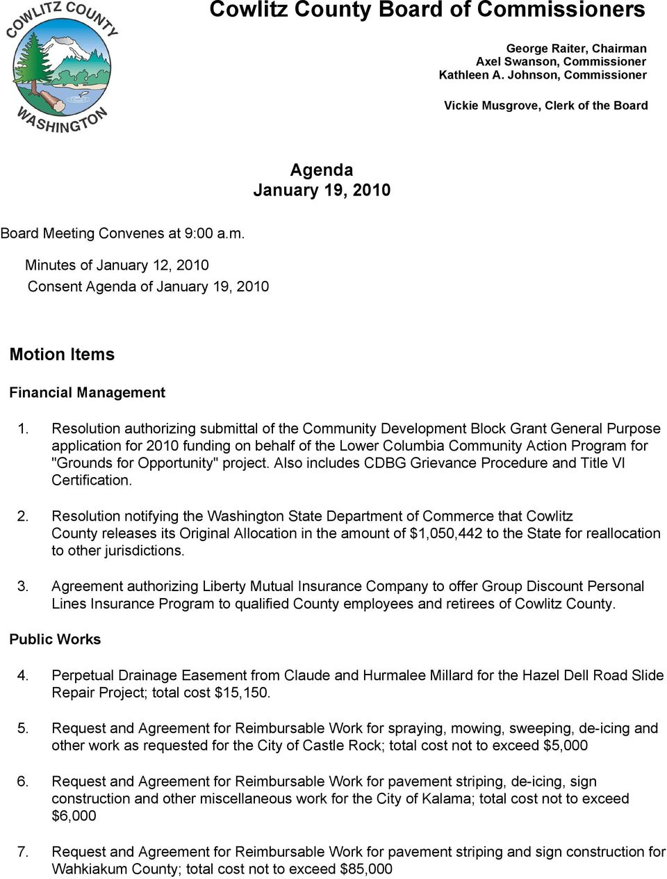 Cowlitz County Board of Commissioners - PDF