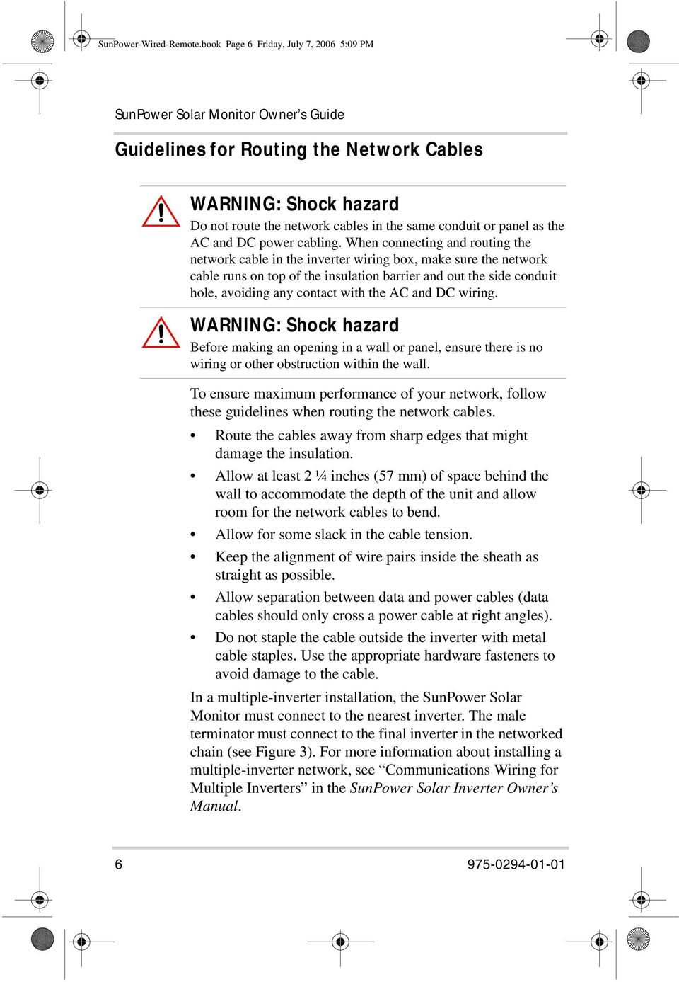 Owner S Guide Sunpower Sprx Solar Monitor Manual Type Pdf
