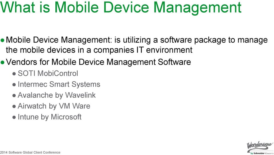 2014 Software Global Client Conference - PDF