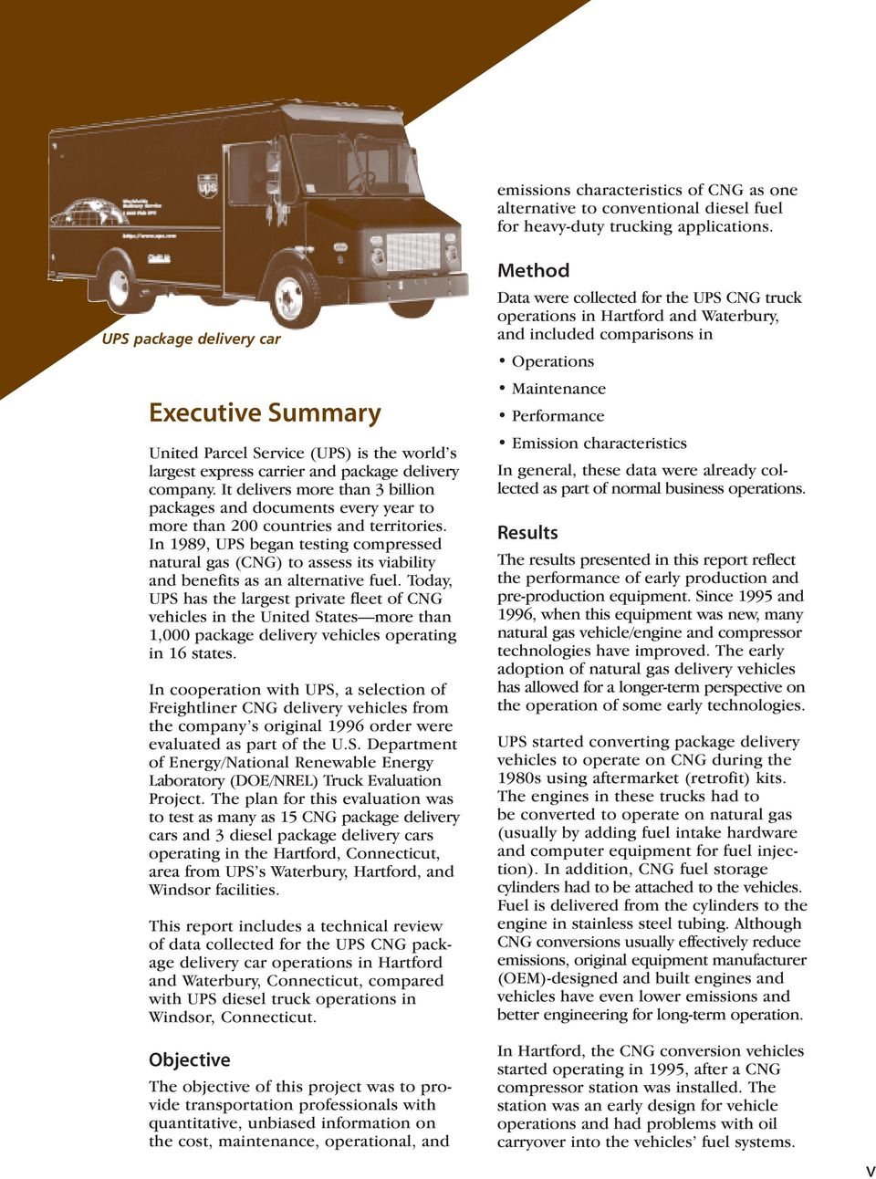 UPS CNG Truck Fleet  Natural Gas Vehicle  This is a - PDF