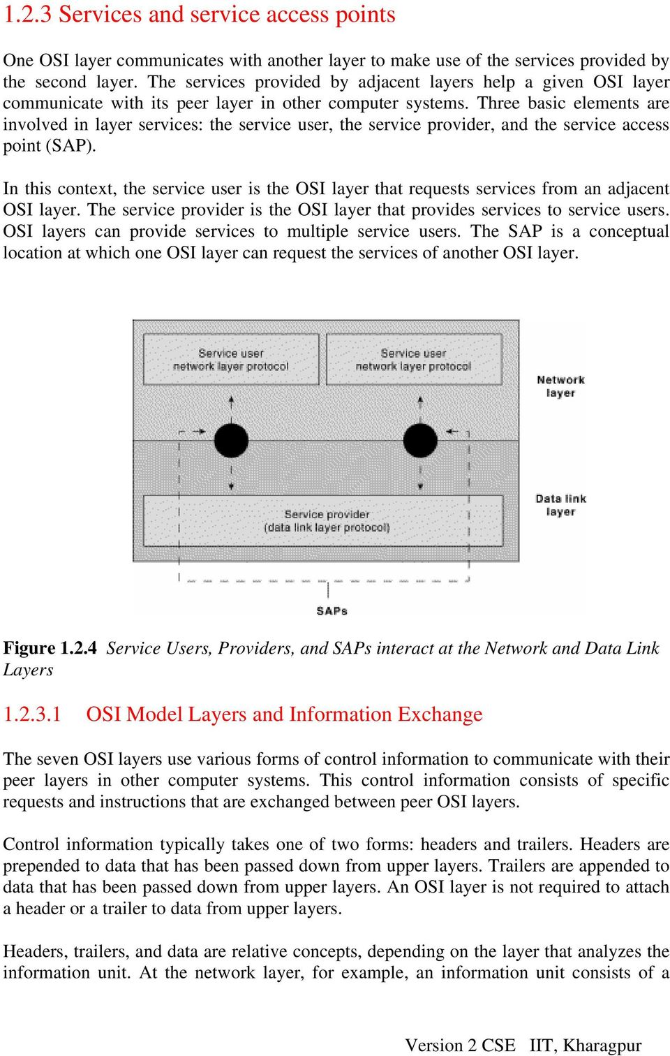 Three basic elements are involved in layer services: the service user, the service provider, and the service access point (SAP).