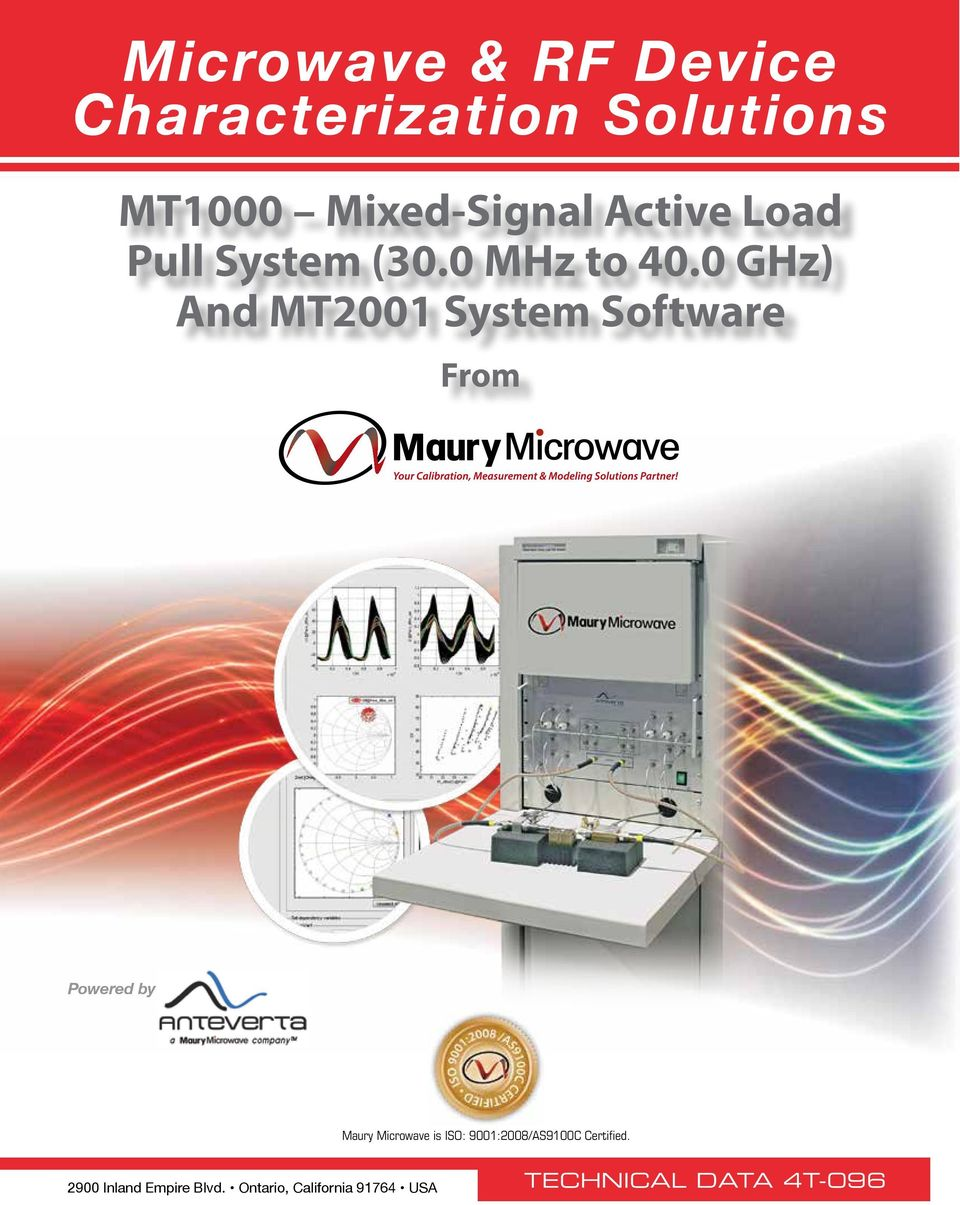 0 GHz) And MT2001 System Software From Powered by Maury Microwave is