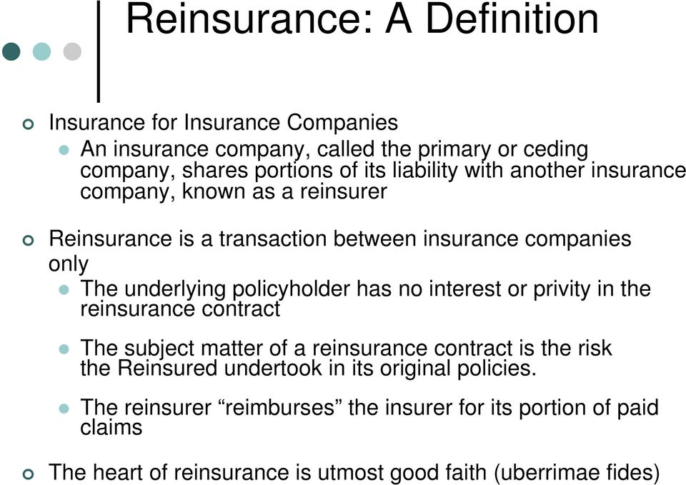 April 4 Introduction To Reinsurance Pdf Free Download