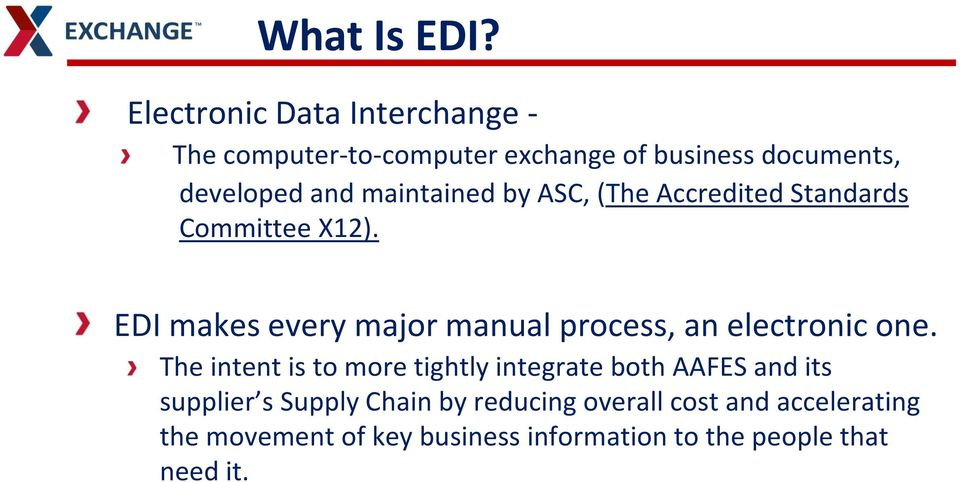 Electronic Data Interchange EDI  Facilitators: - PDF