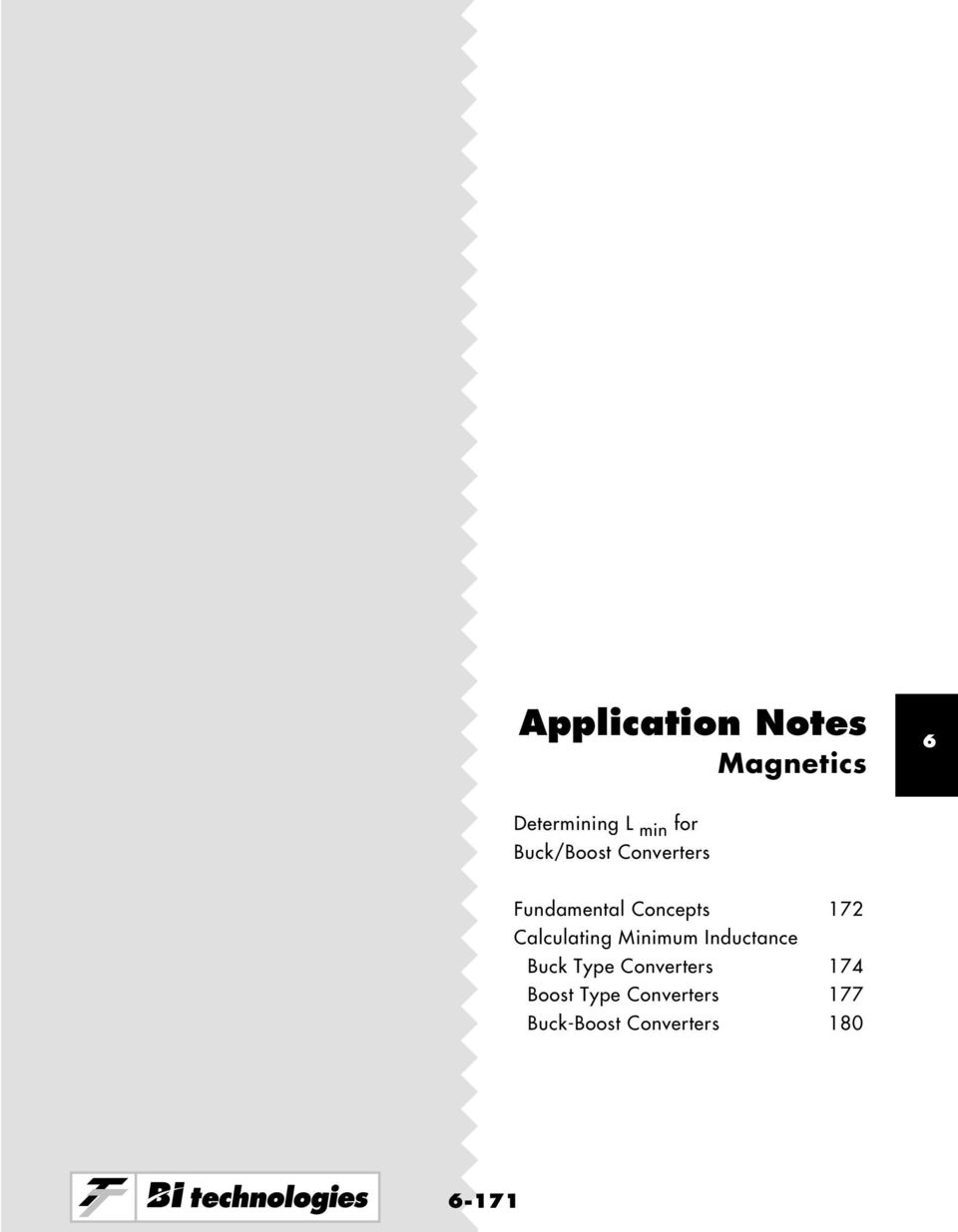 Application Notes Magnetics Determining L Min For Buck Boost Circuit Alculating Minimum Nductance Type Onverters