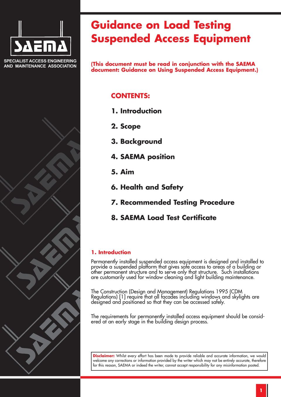 Guidance on Load Testing Suspended Access Equipment - PDF