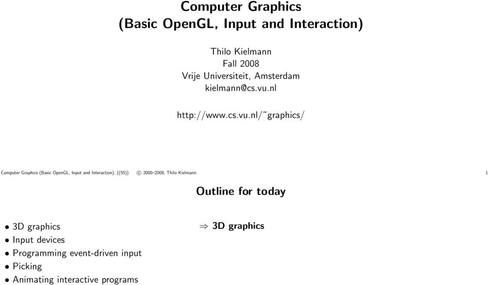 Computer Graphics (Basic OpenGL, Input and Interaction) - PDF