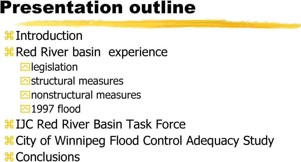 nonstructural measures 1997 flood IJC Red River Basin