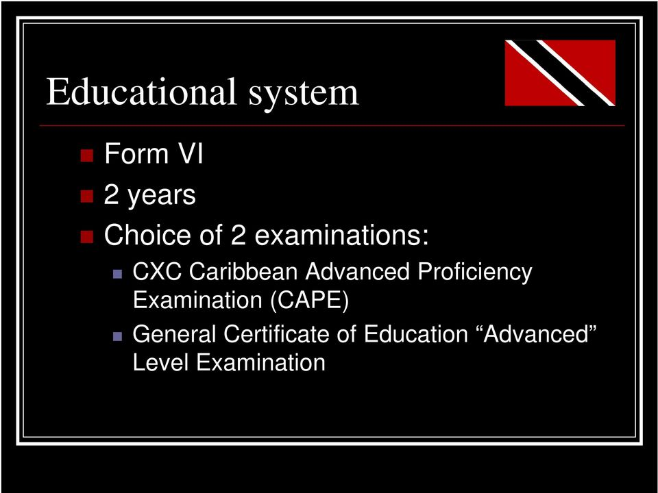 Proficiency Examination (CAPE) General