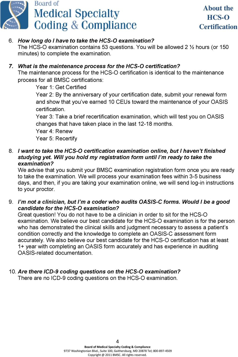 About The Hcs O Certification Pdf