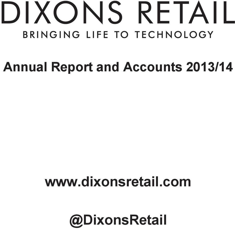 Annual Report and Accounts 2013/14  - PDF