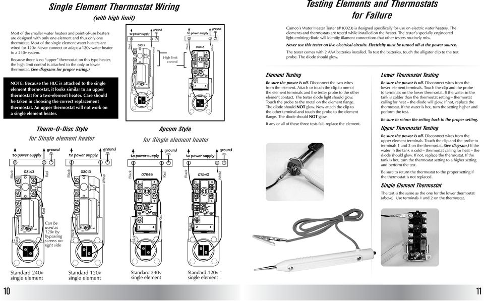 Residential Water Heater Construction Table Of Contents