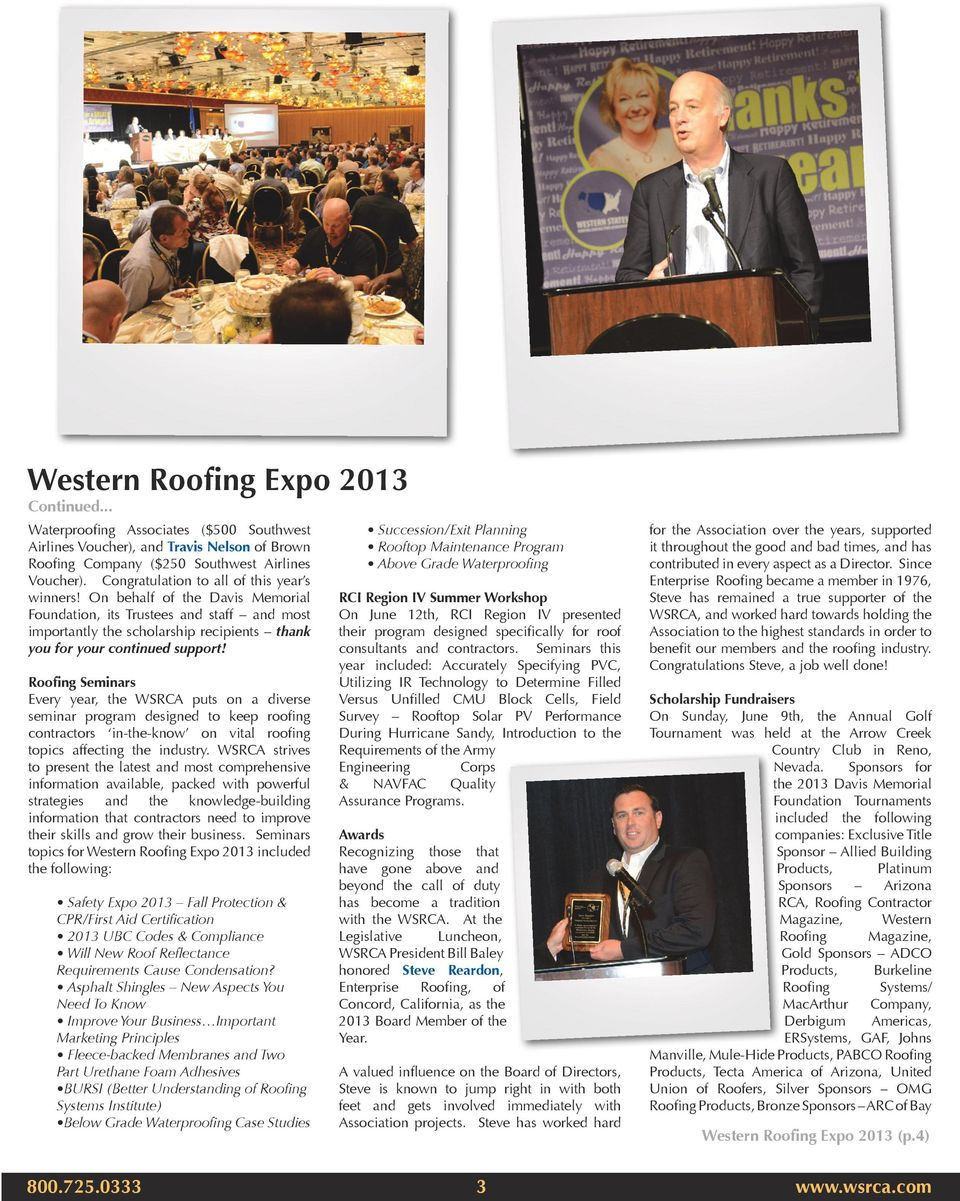of the Western States Roofing Contractors Association Newsletter - PDF