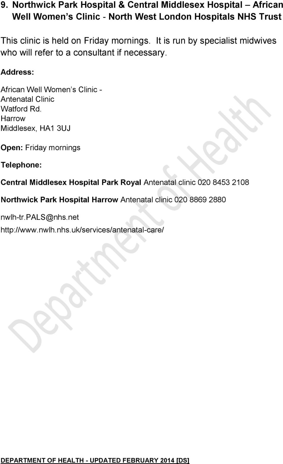 Nhs Specialist Services For Female Genital Mutilation Pdf