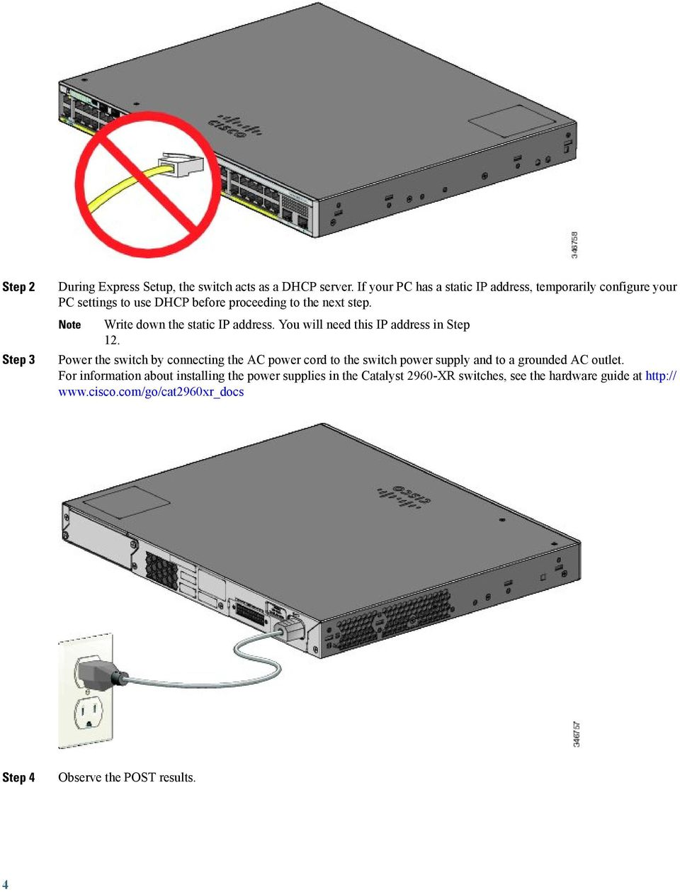 Getting Started Guide For The Catalyst 2960 X And Xr Switches Pdf Necessary Should Be Connected To Cisco Series Switch You Will Need This Ip Address In Step 12