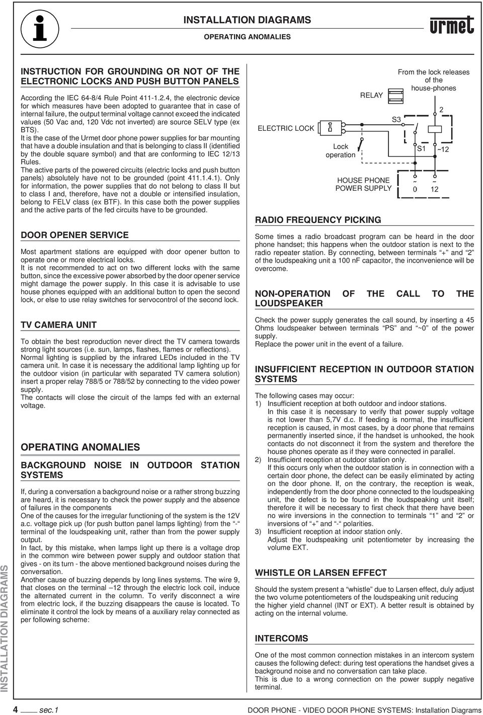 Installation Diagrams Pdf 2 5mm To Handset Wiring Diagram Inverted Are Source Selv Type Ex Bts