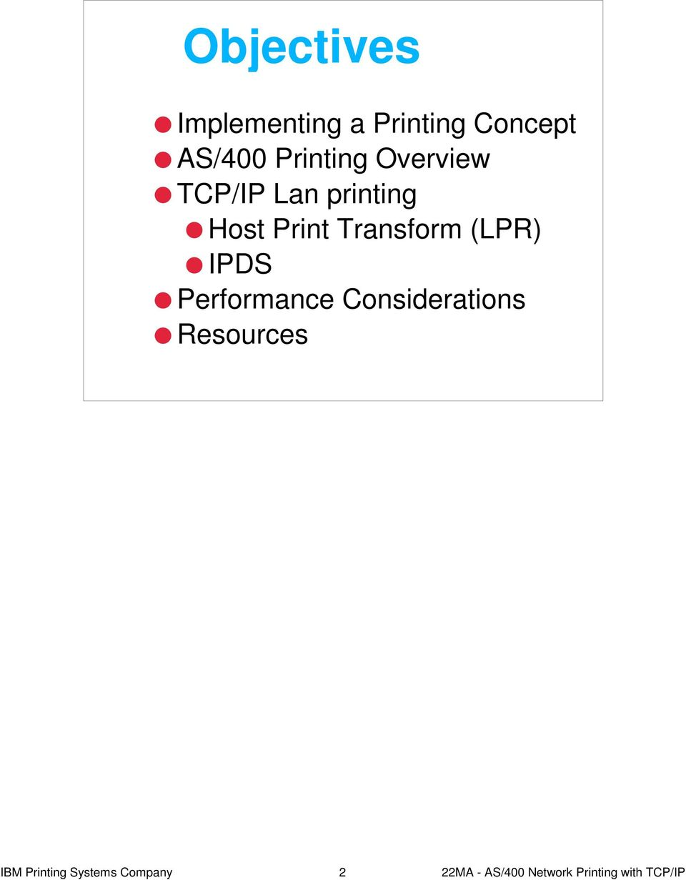 AS/400 Network Printing with TCP/IP - PDF