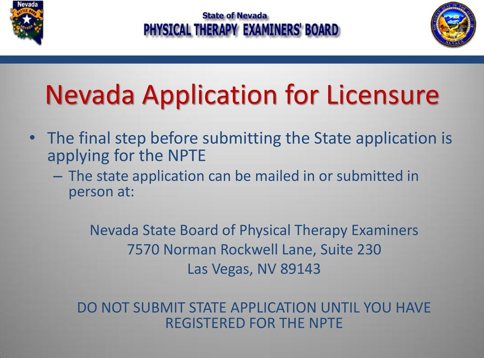 Initial Licensure In Nevada Pdf
