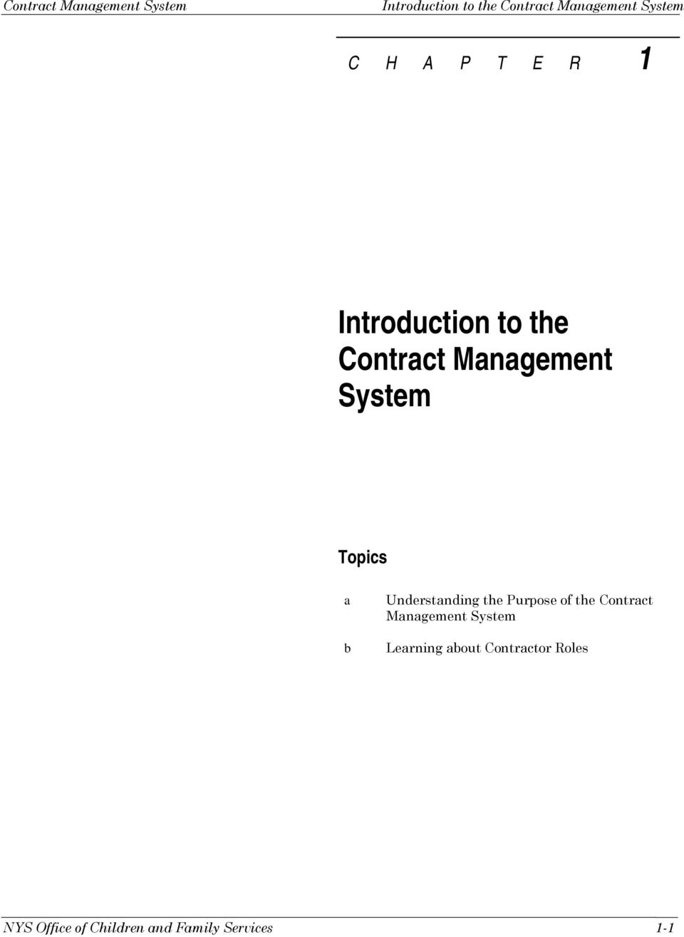 Understanding the Purpose of the Contract Management System