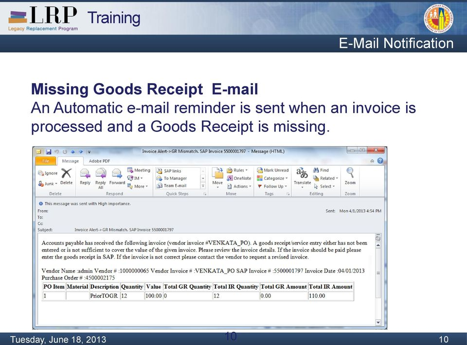 Request Mail For Revised Invoice