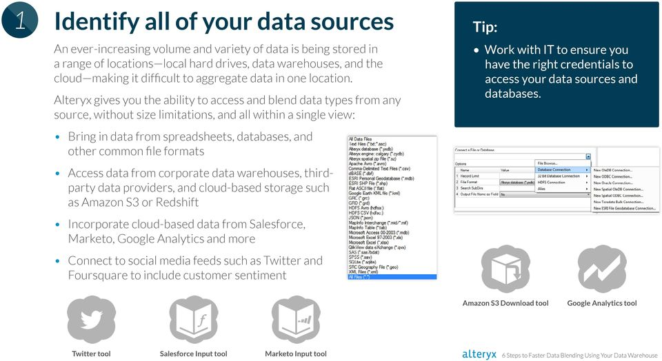 6 Steps to Faster Data Blending Using Your Data Warehouse - PDF