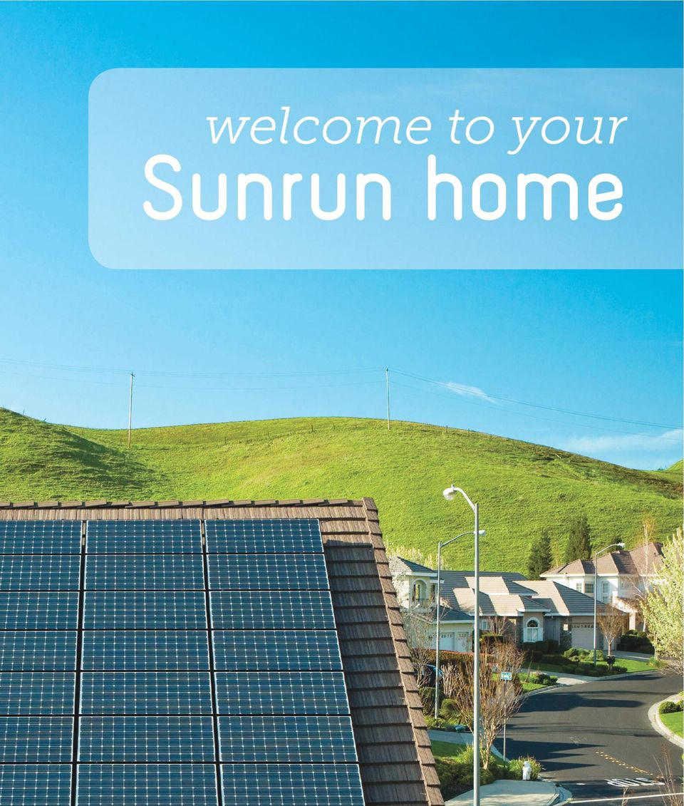 welcome to your Sunrun home - PDF