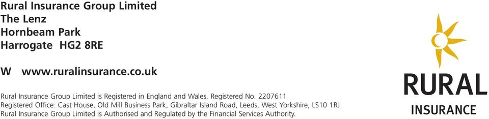 2207611 Registered Office: Cast House, Old Mill Business Park, Gibraltar Island Road, Leeds, West